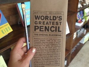 No more is needed...this pencil really is the best. Comes with a letterpress-printed envelope and bookmark.