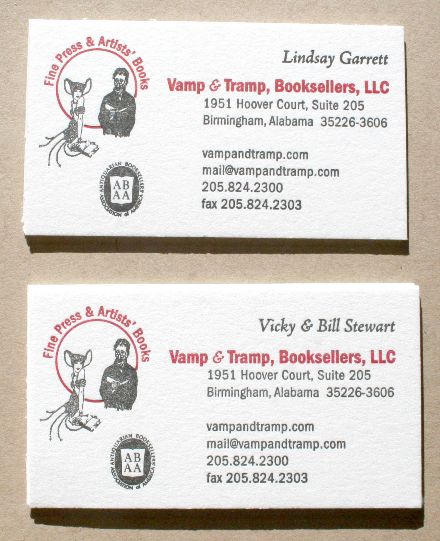 business cards the southern letterpress