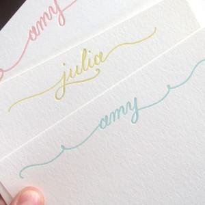 Calligraphic notes