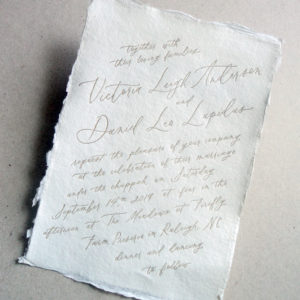 Calligraphy + handmade paper