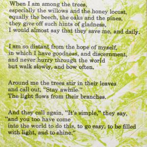 Poems as announcements